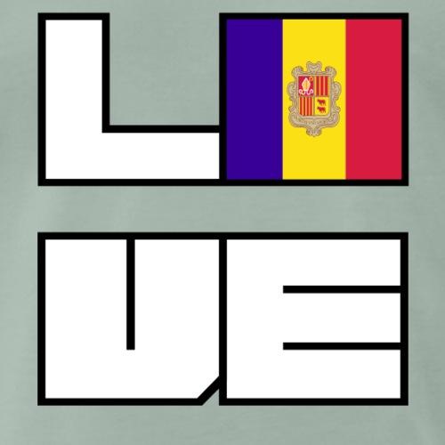 Love Heimat Wurzeln Roots Andorra - Männer Premium T-Shirt