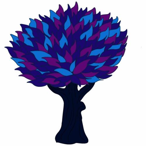 Baum blau - Männer Premium T-Shirt