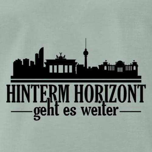 Hinterm Horizont schwarz - Männer Premium T-Shirt