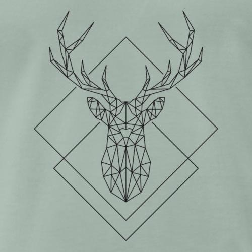 Polygon Hirsch - Männer Premium T-Shirt