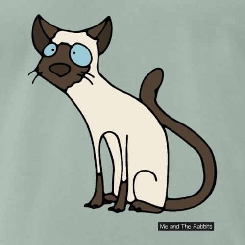 Katt - siames - Premium-T-shirt herr