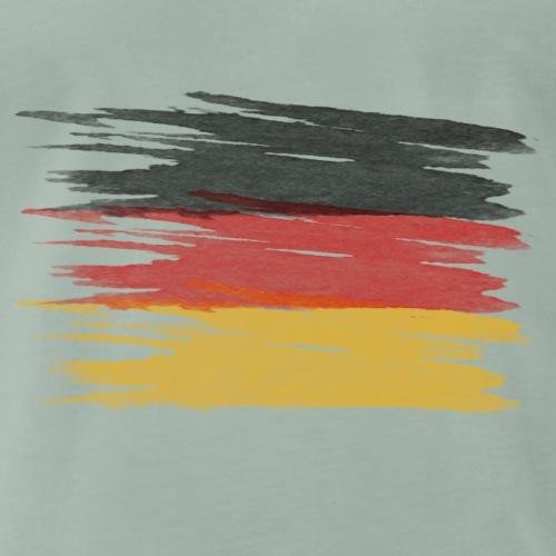 Deutschland flagge, German flag - Männer Premium T-Shirt