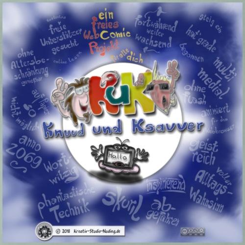 Web-Comic-Projekt Knuud und Ksavver - Männer Premium T-Shirt