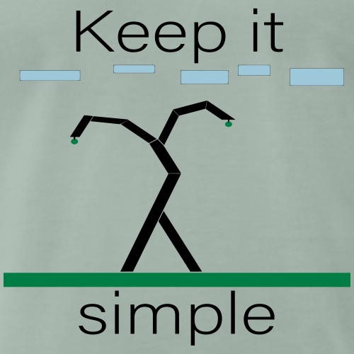 Keep it simple - Männer Premium T-Shirt