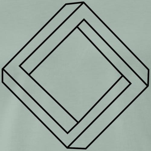 unmöglices_Quadrat_sw - Männer Premium T-Shirt