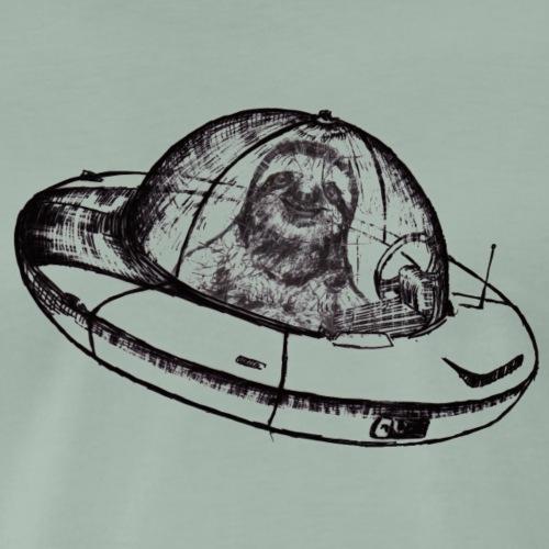 Faultier im Ufo - Männer Premium T-Shirt