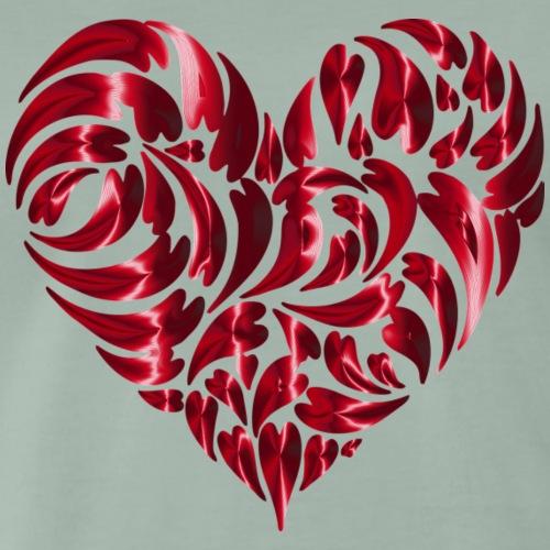 Kunst Aus Herzen! Liebe Geschenke Herz Idee - Männer Premium T-Shirt