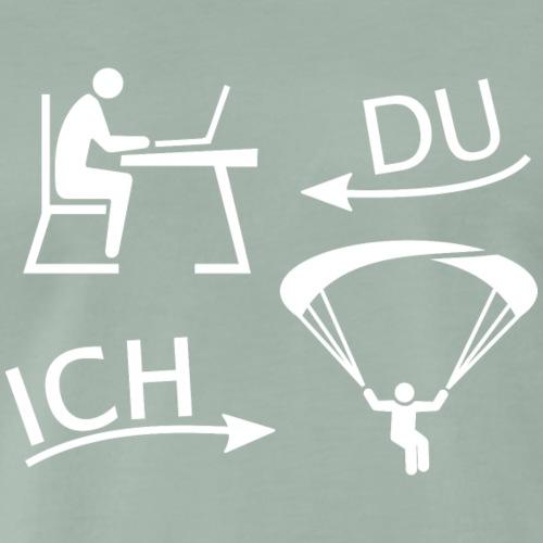 DU und ICH: Gleitschirmfliegen statt Büro (weiss) - Männer Premium T-Shirt