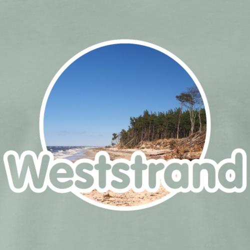Weststrand Darß mit Foto - Männer Premium T-Shirt