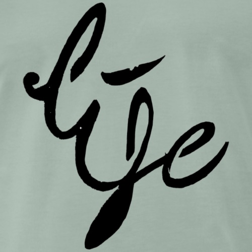 Life Logo simple black - T-shirt Premium Homme