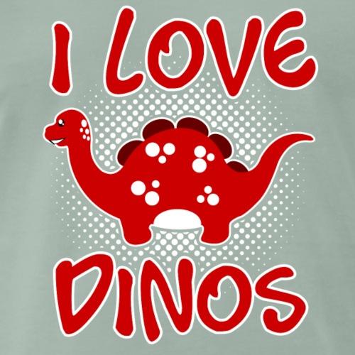 I LOVE DINOS v1 - Männer Premium T-Shirt