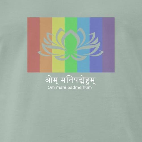 Lotus mani padme hum - Männer Premium T-Shirt