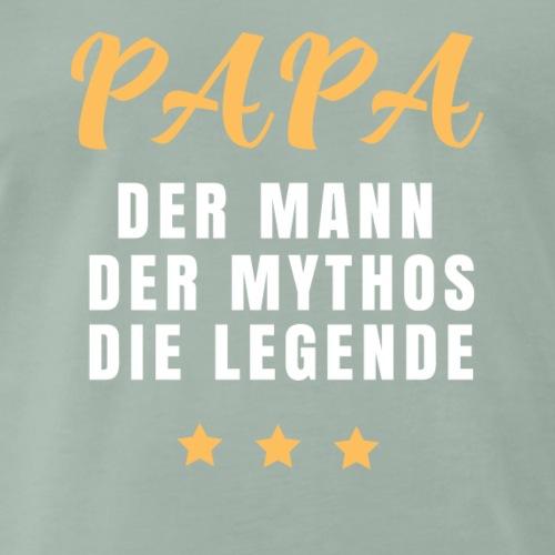 papa der mann der mythos die legende - Männer Premium T-Shirt
