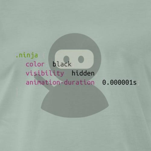 Ninja CSS - Maglietta Premium da uomo