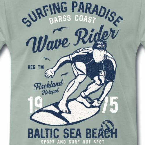 OSTSEE - Darss Wellen Reiter Geschenke Shirts - Männer Premium T-Shirt