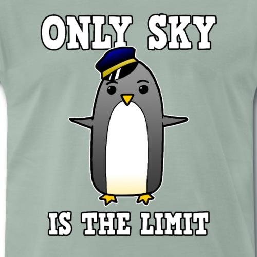 Pinguin Pilot Fliegen Comic lustig Geschenk - Männer Premium T-Shirt