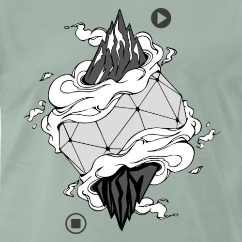 Berg Artwork - Climbing Shirt - Männer Premium T-Shirt