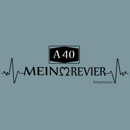 A40 Mein Revier (schwarz) - Männer Premium T-Shirt