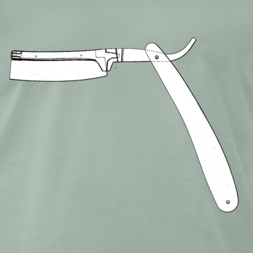 Old School Rasiermesser Friseur Bart Rasieren - Männer Premium T-Shirt
