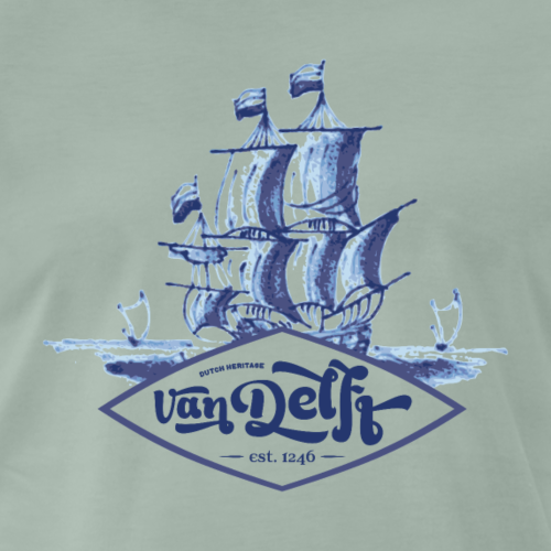 Sail VOC VanDelft - Mannen Premium T-shirt