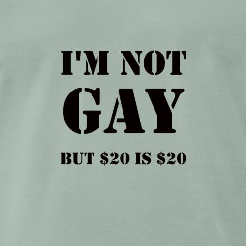 Ich bin nicht schwul aber..... GAY witzig lustig - Männer Premium T-Shirt