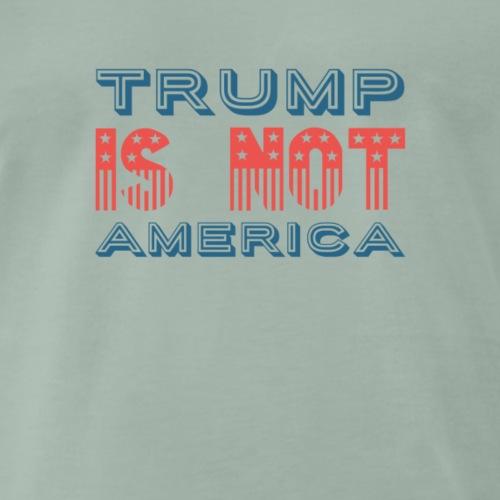 Trump is not America T-Shirt, Protest Donald Trump - Männer Premium T-Shirt