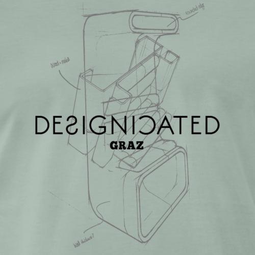 Designicated Graz schwarz - Männer Premium T-Shirt
