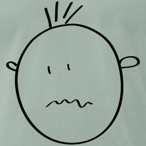 zerknirschtes Smilie - Männer Premium T-Shirt