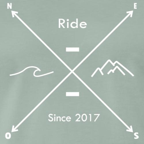 ride boussole white - T-shirt Premium Homme