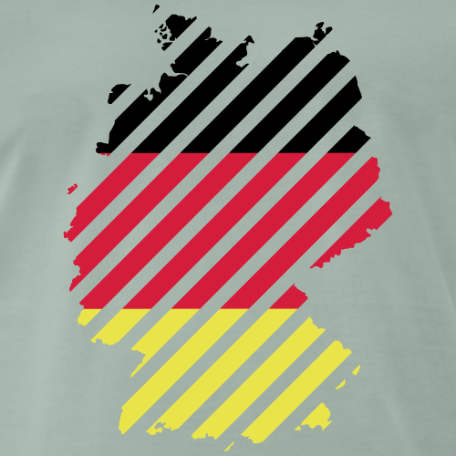 Striped Germany country - Mannen Premium T-shirt