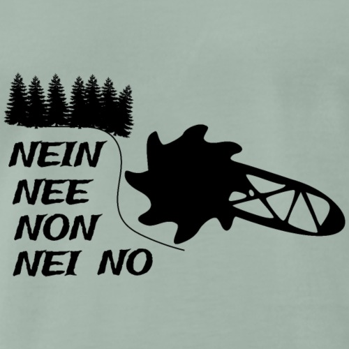 KEINE BRAUNKOHLE - Männer Premium T-Shirt