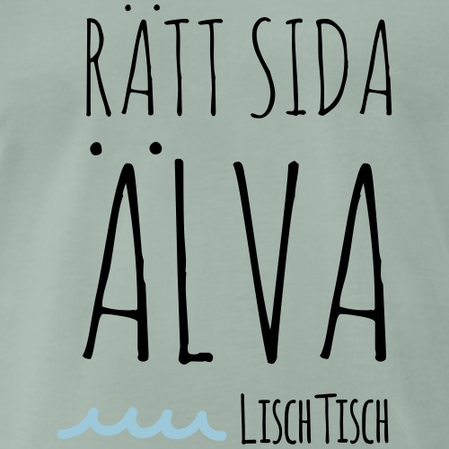 Rätt sida Älva - Premium-T-shirt herr