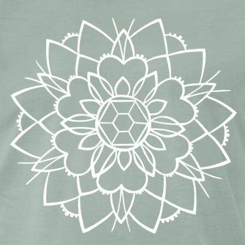 mandala 2 negativ, taste of ink tattoo - Männer Premium T-Shirt