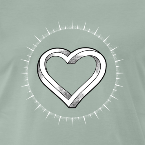 Impossible Heart - Mannen Premium T-shirt