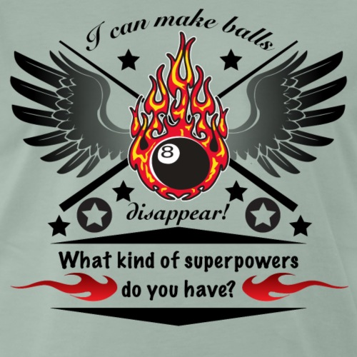Lustiges Billard Design - Männer Premium T-Shirt