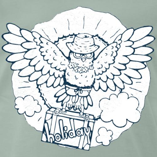 Vogel fliegt in der Urlaub blau-weiß - Männer Premium T-Shirt