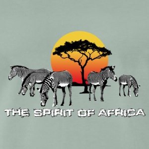 the Spirit of Africa Zebras Sonnenuntergang Safari - Männer Premium T-Shirt
