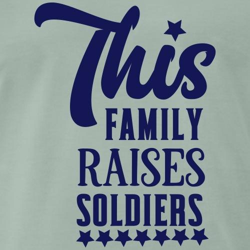This family raises soldiers - Mannen Premium T-shirt