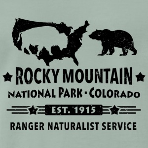 Bison Grizzly Rocky Mountain Nationalpark Berge - Männer Premium T-Shirt