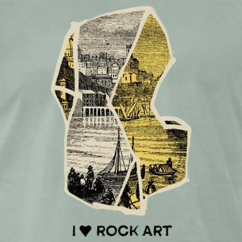 I LOVE ROCK ART No 2 colour - Mannen Premium T-shirt