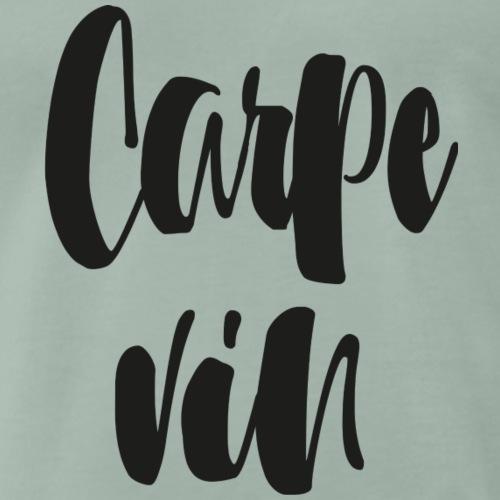 Carpe vin - Premium-T-shirt herr