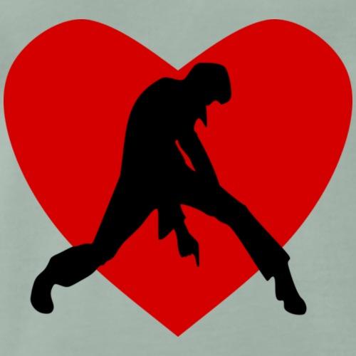 coeur de rocker - mon coeur pour Johnny - T-shirt Premium Homme