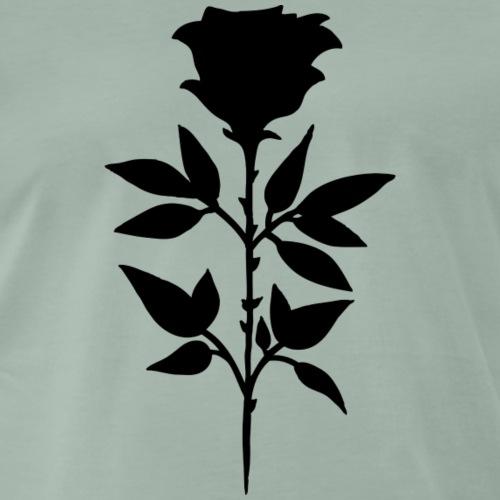 Rose noire - T-shirt Premium Homme