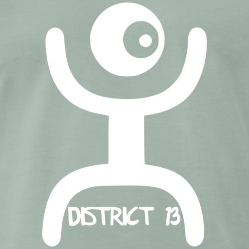 Logo District 13 white - Männer Premium T-Shirt