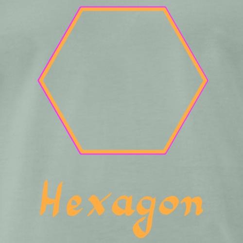 Hexagon - Männer Premium T-Shirt