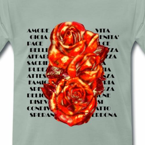 ROSE D AMORE - Maglietta Premium da uomo