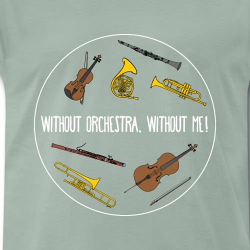 Orchester Musiker Intrumen tHobby lustig Geschenk - Männer Premium T-Shirt