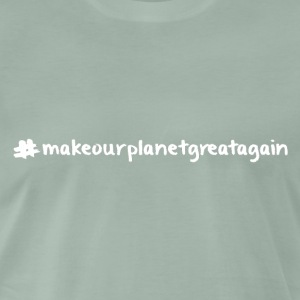 Macrourplanetgreatagain text white 04 - Men's Premium T-Shirt