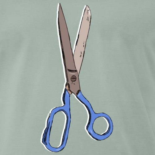Ciseaux de coiffeur / Hairdresser scissors - T-shirt Premium Homme