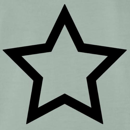 schwarzer Stern - Männer Premium T-Shirt